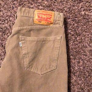 34 x 34 Levi corduroy Pants  502 fit